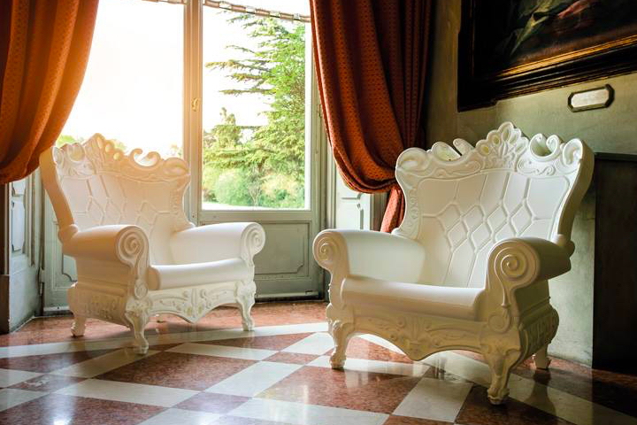 White throne chair rental for baby shower