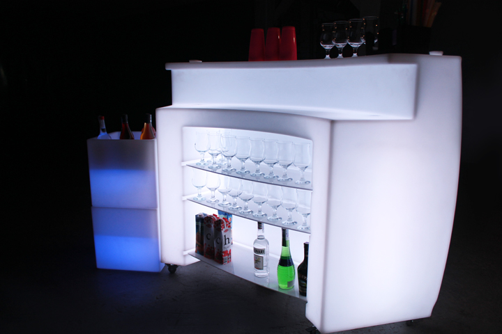 Glowing bar for rent