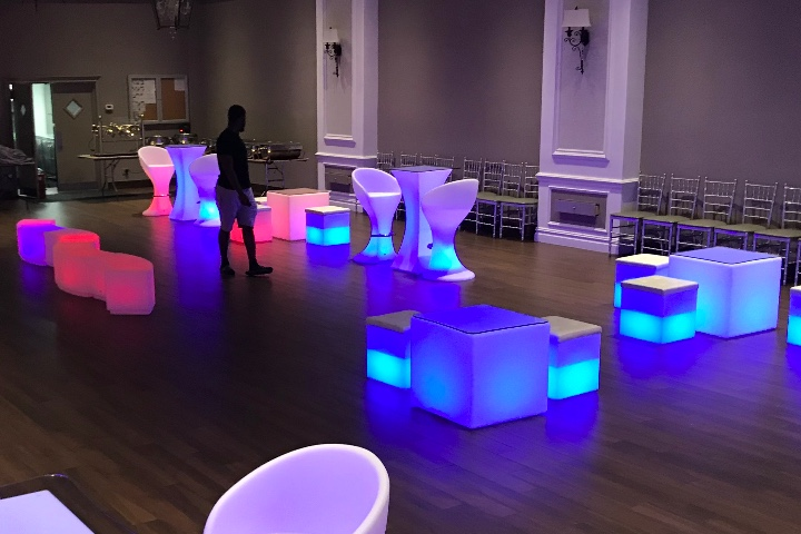 LED Furniture Rental for Graduation Party