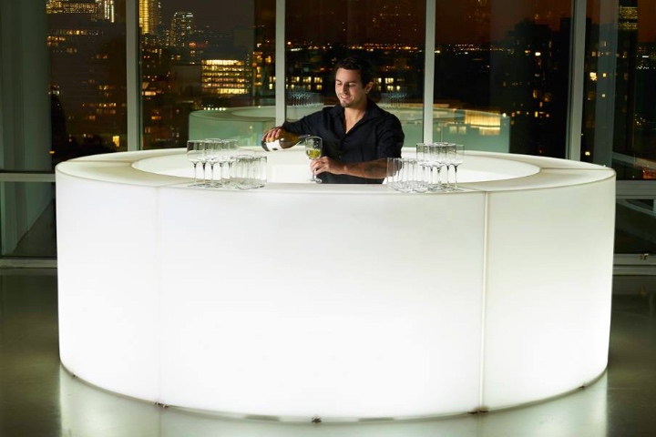 LED Circular buffet bar for rent