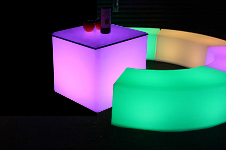 LED Coffee tables Rental NYC