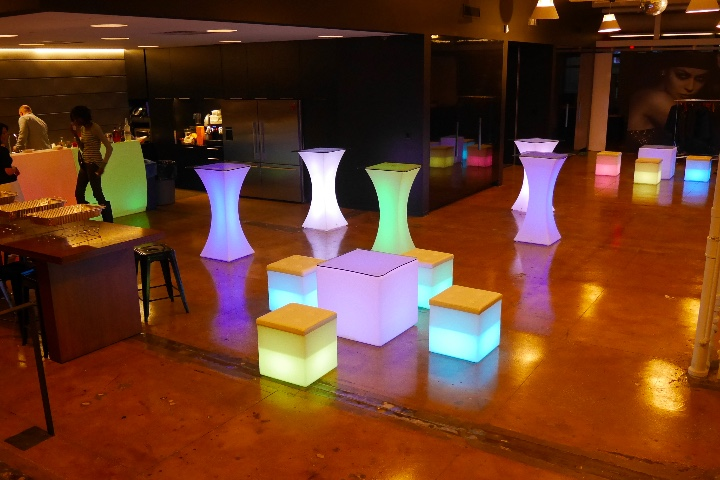 LED Cubes for rent